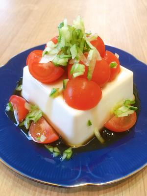 直ぐに作れる簡単トマト冷奴
