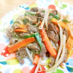 簡単!コストコのプルコギ肉で~かさ増し野菜炒め♪