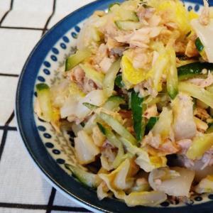 【作り置き】レンチンで!白菜ときゅうりの中華サラダ