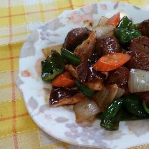 レトルト肉団子と残り野菜でなんちゃって酢豚風♥