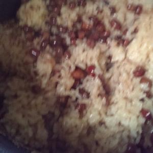 炊飯器で赤飯。冷めても柔らか比率♪もち米1対白米1