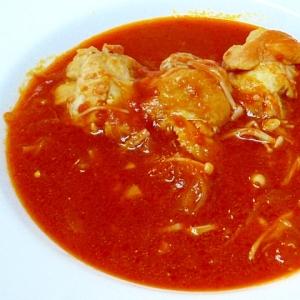 鶏手羽元ときのこのトマト煮