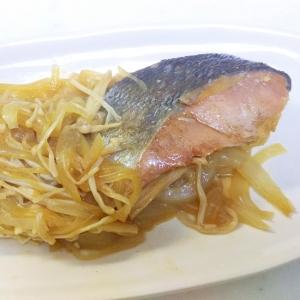 鮭のレモンバター醤油炒め++