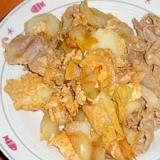 豚肉と白菜の卵炒め