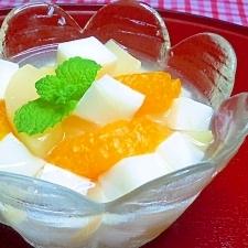 ☆我が家の定番ヘルシーでおいしい牛乳寒天フルーツ♪