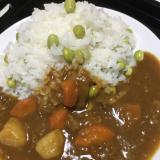 枝豆ご飯でカレー