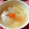鶏肉、大根、人参の塩麹スープ
