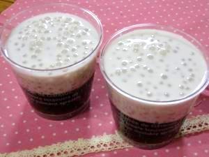 タピオカ入りココナッツミルク & コーヒーゼリー