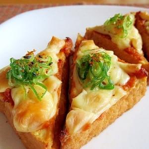 トースターで簡単!厚揚げの味噌チーズ焼き