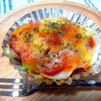 お弁当に♪簡単!里芋トマトチーズ焼き