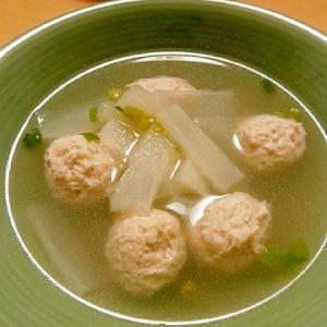 ほっこり☆鶏団子と大根の中華スープ
