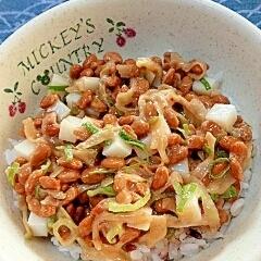 納豆の食べ方-ザーサイ&かまぼこ♪