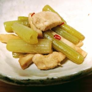 塩漬けメンマと蕗の炒め煮