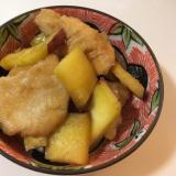 鶏胸肉とサツマイモの照り焼き
