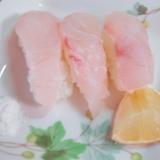 塩とレモンでいただく 鯛のにぎり寿司