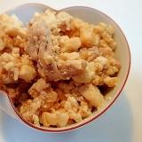 ❤豚肉と豆腐のマヨネーズ白だし炒め❤