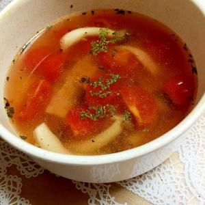 レンジで簡単!トマトとしめじ・ベーコンのスープ♪