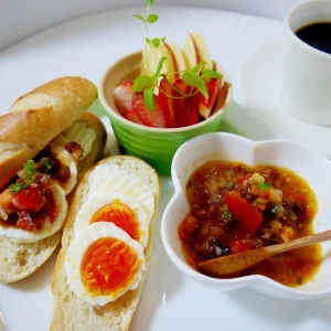 プチパンで簡単朝食 朝から健康レシピ