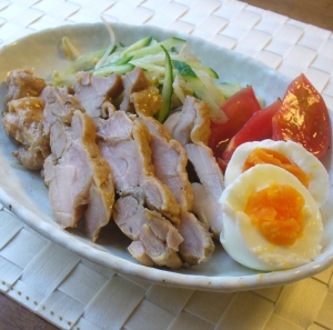 鶏の塩焼きをリメイク♪鶏のチャーシュー風