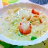 白菜と魚介のクリーム煮