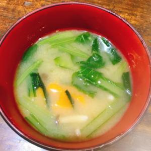 小松菜とかぼちゃ味噌汁