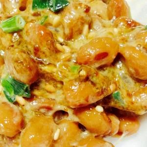 海苔佃煮マヨ胡麻❤︎納豆