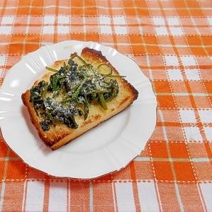 ほうれん草の胡麻和え&粉チーズトースト