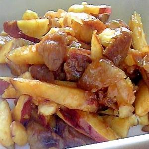 さつま芋と豚肉の炒め煮