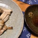 穴子の白焼き わさび醤油添え