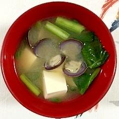 しじみと小松菜のお味噌汁