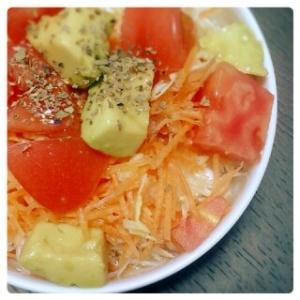 アボカド&トマト さっぱりサラダ♪