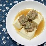 ひき肉と豆腐のレンジ蒸し