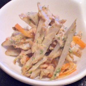 マヨネーズなし★ごまドレとヨーグルトのゴボウサラダ