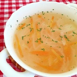 人参と玉ねぎのコンソメスープ