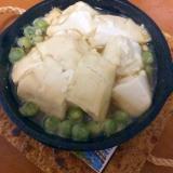 グリーンピース豆腐煮