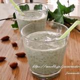モロヘイヤ&バナナの豆乳ジュース