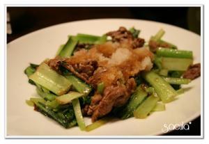 牛肉と小松菜のさっぱり炒め★