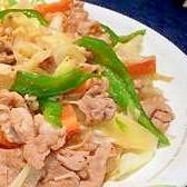 野菜たっぷり!青森のたれで作る肉野菜炒め。
