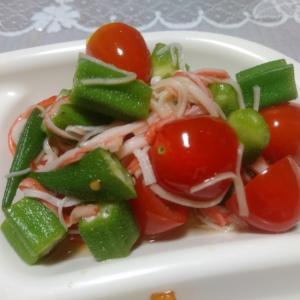オクラとミニトマトのポン酢サラダ