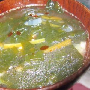 ピリ辛わかめスープ