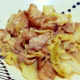 ほっとする味♪豚肉とキャベツのマイルド味噌マヨ炒め