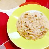 簡単ランチ☆残りご飯で味噌チーズリゾット