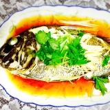 鯛の広東風蒸し煮