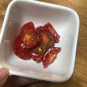 プチトマトのお手軽カプレーゼ風