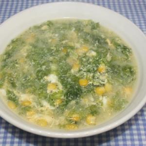 簡単☆ぽっかぽか☆乾燥あおさで中華たまごスープ