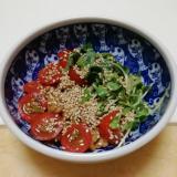 ヘルシー♪プチトマト de 和風サラダっぽい納豆