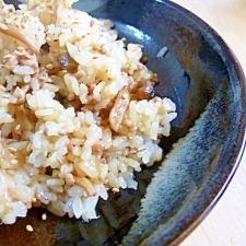 ひき肉としめじの混ぜご飯
