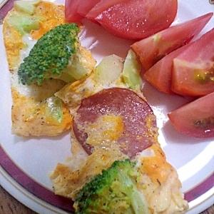朝ごはんに♪ブロッコリーのチーズオムレツ