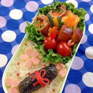 簡単☆キャラ弁 卒業式のお弁当♪