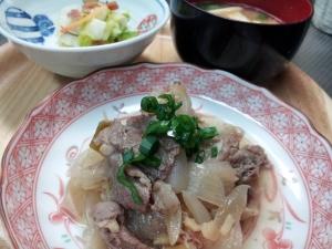 生姜たっぷり!下仁田ネギと牛肉の煮物